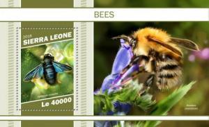 Sierra Leone - 2018 Bees on Stamps - Stamp Souvenir Sheet - SRL181115b