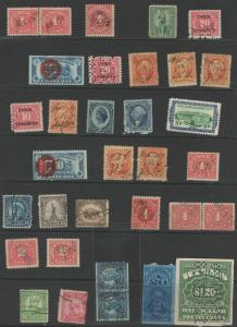Rare U. S. Revenue stamps and vintage stamps **