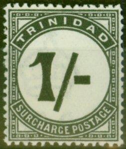 Trinidad 1945 1s Black SGD25 Very Fine Lightly Mtd Mint