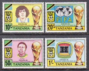 Tanzania 197-200 Soccer MNH VF