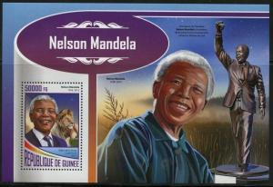 GUINEA 2017 NELSON MANDELA SOUVENIR SHEET MINT NH