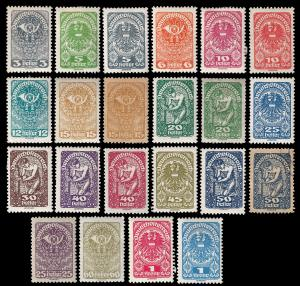 Austria 1919-23 Sc 200-218 mh (215s is used) complete