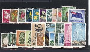 New Zealand, 382-404, Decimal Currency Singles, **MNH**
