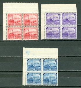 ITALY 1939 LOCOMOTIVES #410-412...SET BLKS ...MNH $64.00