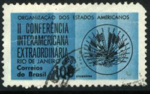 Brazil 1013, 100cr Foreign Ministers OAS. Used. (476)