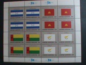 UNITED NATION-1989 SC#562-5 U. N. FLAGS SERIES MNH FULL SHEET- VERY FINE