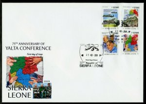SIERRA LEONE  2020  75th ANNIVERSARY OF THE YALTA CONFERENCE FDR  SET  FDC