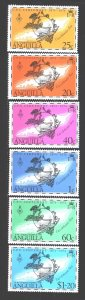 Anguilla. 1974. 198-203. 100 years of UPU. MNH.