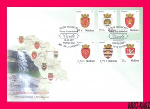 MOLDOVA 2017 Heraldry Coats of Arms Emblems of Cities Towns Definitive FDC