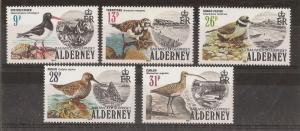 Alderney 1984 Birds SG.A13-A17 MNH