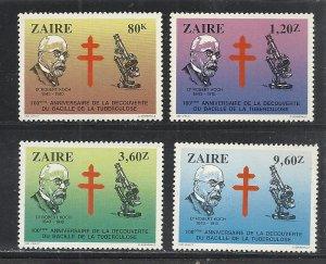 Zaire #1111-4 comp mnh cv $6.05 Health
