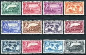 MONTSERRAT-1938-48  A mounted mint set to £1 Perf 13 Sg 101-112