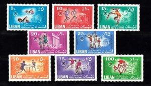 LEBANON - LIBAN MNH SC# C678-C685 SPORTS MNH