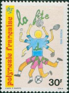 French Polynesia 1993 Sc#620,SG680 30f Sportsman MNH