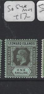 LEEWARD ISLANDS  (P2608BB)  KGV 1/-  SG 54B   MOG
