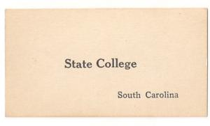 South Carolina RPO flash cards State College & Belvedere 40s