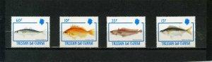 TRISTAN DA CUNHA 1992 FISH SET OF 4 STAMPS MNH