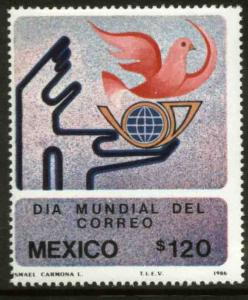 MEXICO 1456, International Post Day. MINT, NH. F-VF.