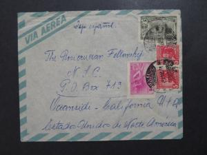 Uruguay 1950s Airmail Cover to USA - Z8130