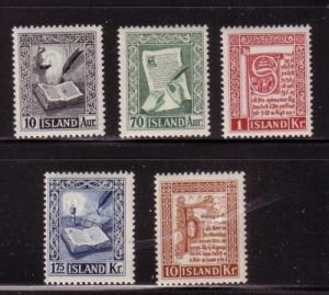 Iceland Sc278-82 1953 Reykjabok stamps mint