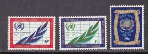 UN - NY # 209-211, 25th Anniversary. Mint LH