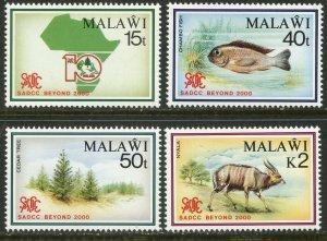 MALAWI Sc#570-573 1990 SADCC Anniversary Nature Complete Set OG Mint Hinged