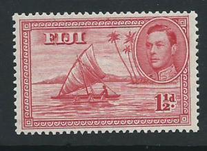 Fiji  GVI SG 252  MLH perf 13½ Carmine