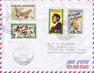 French Equatorial Africa Central African Republic 15F Premier Boganda and 1st...