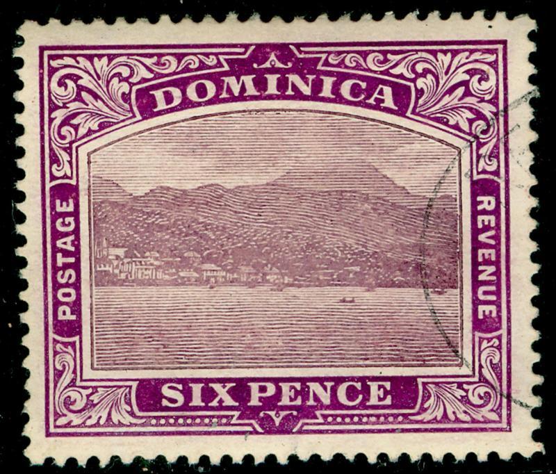DOMINICA SG52, 6d dull & bright purple, FINE used. ©