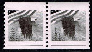 US STAMP BOB BLACK EAGLE TEST PRINT STAMP LINE PAIR