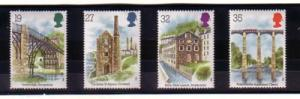 Great Britain Sc 1280-3 1989 Industrial Archaeology stamp set mint NH