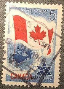 Canada # 453 Used