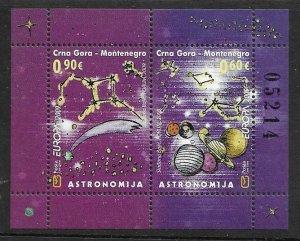 2009    MONTENEGRO  -  SG.  M69A  -  EUROPA  -  ASTRONOMY  -  MNH