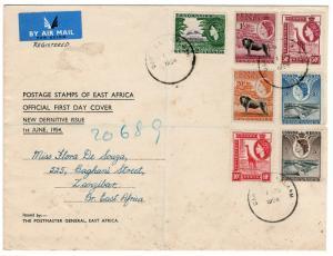 (I.B) KUT Postal : New Issue FDC (1954) Dar Es Salaam - Zanzibar