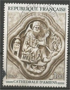FRANCE, 1969 used 1fr, Cathedral Scott 1236