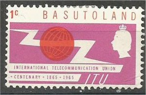 BASUTOLAND  1965 ,MNH 1c  ITU Issue  Scott #101