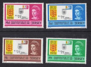 Jersey  1969  MNH inauguration of post office  complete set