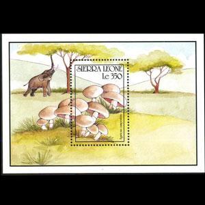 SIERRA LEONE 1990 - Scott# 1329 S/S Mushroom NH