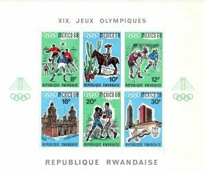 Rwanda #254 F-VF Unused CV $11.00 (Z9771L)