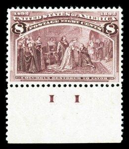 236 Mint,OG,NH... PF graded 90-XF... SSV $325.00