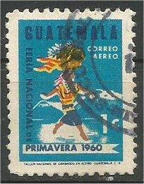 GUATEMALA, 1963, used 1c, Woman Carrying Fruit Scott C270