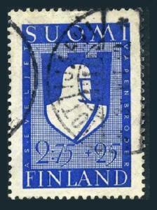 Finland B48,used.Michel 238. Russo-Finnish War.Soldier's Emblem.1940.