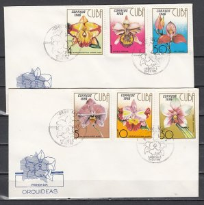 Cuba, Scott cat. 2881-2886. Orchids issue First day cover. ^