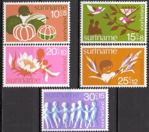 Suriname. 1974. 682-86. children. MNH.