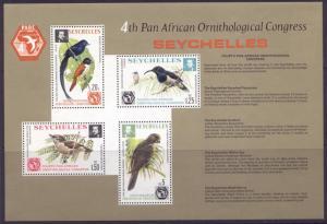 Seychelles 360a MNH Birds, Parrot, Ornithological Congress