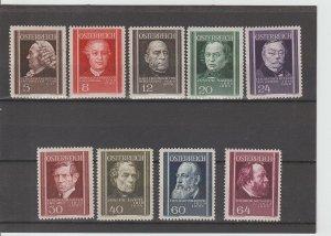Austria  Scott#  B156-B164  MNH  (1937 Physicians)