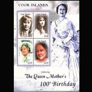 COOK IS. 2000 - Scott# 1235 S/S Queen Mother NH