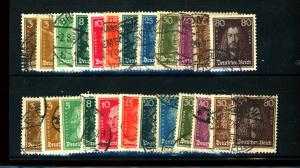Germany #351-62 (2 Sets) Used F-VF Cat $38