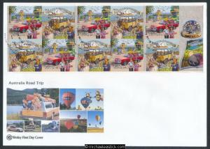 02-Jul-2013 Australia Road Trip II Booklet Wesley First Day Cover (a)