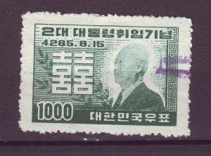 J25416 JLstamps 1952 south korea set of 1 used #182 syngman rhee